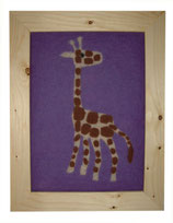 Kinder-Filz-Bild 018 Giraffe