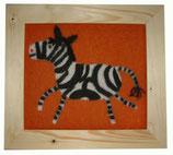 Kinder-Filz-Bild 004 Zebra
