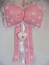 Fiocco nascita strenna rosa