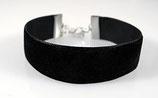 elastisches Kombi Samt Armband (24 mm)
