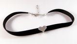 zartes Herz Halsband/Choker - elastisch -