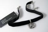 elastisches Samt Halsband mit Brezl