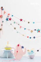 ENGEL. Papiergirlande Stars pink
