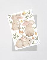 Stickers chambre bébé - Les lapins
