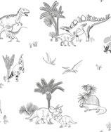 Papier peint dinosaure, le rouleau