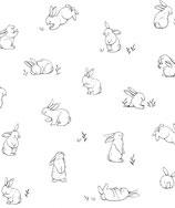 Papier peint lapins, le rouleau