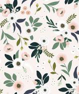 Papier peint fleurs sur fond clair, le rouleau