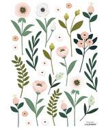 Sticker chambre fille fleurs