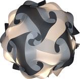 Calabi-Yau Lampe, grau/weiss Bausatz ohne Kabel
