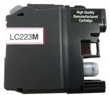 Wiederbefüllte Originalpatrone wie Brother LC 223 magenta