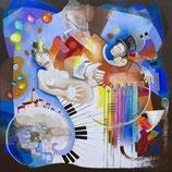 """""""Extase"""" - Edition sur alu-Dibond - En 90 x 90 cms"""