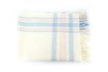 Babydecke aus Schurwolle   - rosa/blau weiß kariert  John Hanly