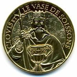 Médaille touristique Clovis et le Vase de Soissons