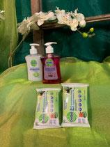 Dettol Händeseife flüssig und Desinfektions- Tücher für unterwegs