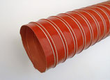 GAINE ADMISSION D'AIR FIBRE DE VERRE ENDUIT SILICONE DOUBLE EPAISSEUR HAUTE TEMPERATURE ROUGE DIAMETRE 114mm