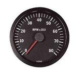 COMPTE TOURS VDO 8000 Trs/Min DIAMETRE 100mm FOND NOIR