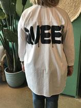 Maxi blouse met logo
