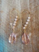 Soft pink dreamteam earring