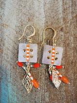 Summer orange Earring