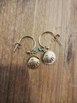 Golden sea earring