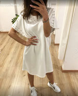 MissMiss white dress with studs