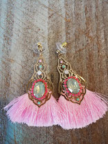 Pink party earring