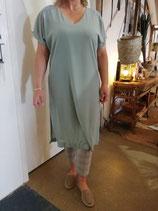 Miss Miss zachtgroene jurk, gevoerd.