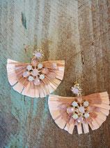 Soft pink bling earring