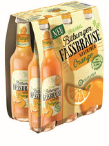 Bitburger Fassbrause naturtrüb Orange 6x0,33l