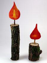 Naturdekoration Kerzenform 2er-Set
