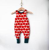 Baby Strampler Apfel rot