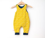 Bio Baby Strampler punkte gelb