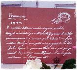 Glamorös Handmade Stencil - French Letter A4
