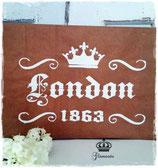 Glamorös Handmade Stencil - London A4