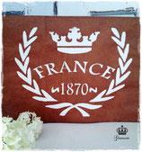 Glamorös Handmade Stencil - France 1870 A4