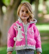 Pink Bunny Knit Zip Hoodie
