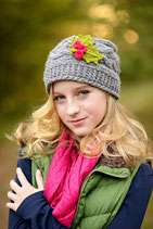 Jolly Wool Gray Beanie /Hat