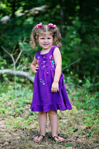 Lily Baby Dress Purple