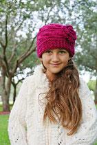 Mauve Wool Gloria Beanie /Hat