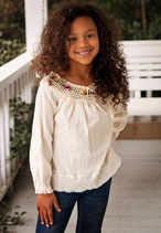 Michelle Natural Yoke Blouse Girl