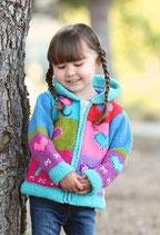 Blue Heart Knit Zip Hoodie