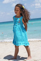 Lily Criss Cross Dress Aqua