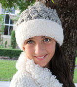 Gray Wool Sherpa Beanie /Hat