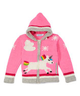 Pink Magic Unicorn Knit Zipped Hoodie