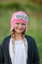 Pink Aviator Beanie /Hat