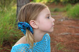 Hair scrunchies - AQUA