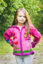 Carmel Pink Knit Zip Hoodie