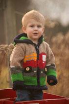 Tan Truck  Eric Knit Zip Hoodie- Boy
