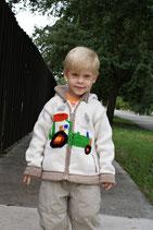Tractor John Knit Zip Hoodie- Boy