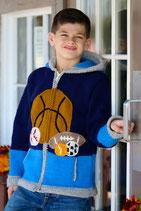 Sports Knit Zip Hoodie- Boy